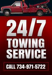 24/7 Towing Service, Call 734-971-5722