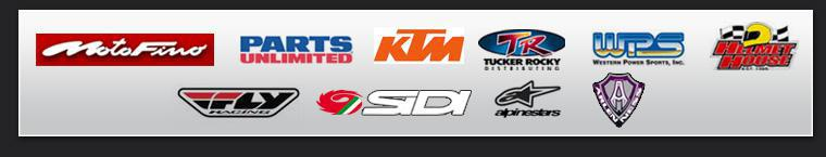 We are proud to carry products from Motofino, Parts Unlimited, KTM, Tucker Rocky, Western Power Sports, Helmet House, Fly Racing, Sidi, Alpinestars, and Arlen Ness!