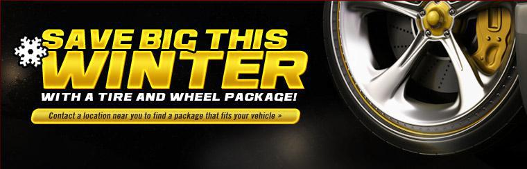 Save big with a tire and wheel package!