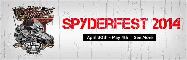 SpyderFest 2014: April 30th to May 4th. Click here for more event information.