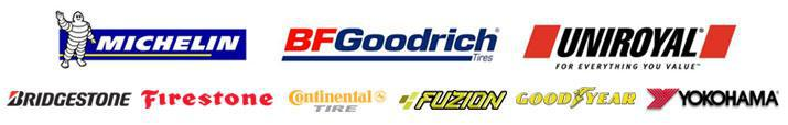 We proudly carry products from Michelin®, BFGoodrich®, Uniroyal®, Bridgestone, Firestone, Continental, Fuzion, Goodyear, and Yokohama.