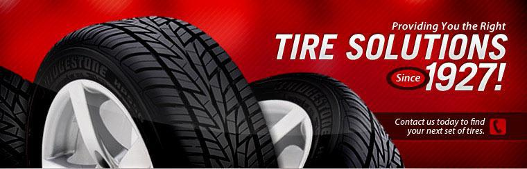 Providing you the right tire solutions since 1927! Contact us today to find your next set of tires.