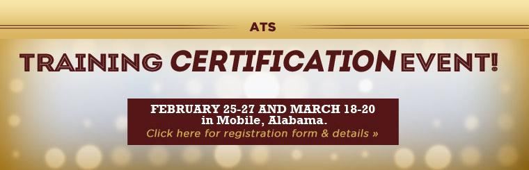 Automotive Tire Service Training Certification Event: February 25-27 and March 18-20 in Mobile, AL! Click here for registration form & details.