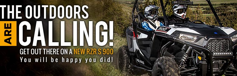 Get out there on a new RZR S 900! Click here to view our selection.