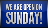 We are open on Sunday!