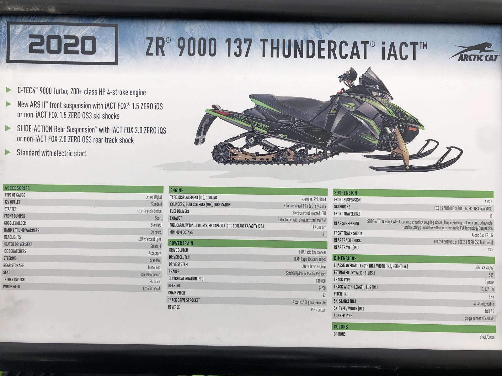 2020 Arctic Cat NEW Arctic Cat ZR 9000 137
