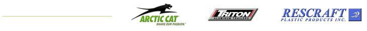 We carry products from Arctic Cat, Triton, and Rescraft.