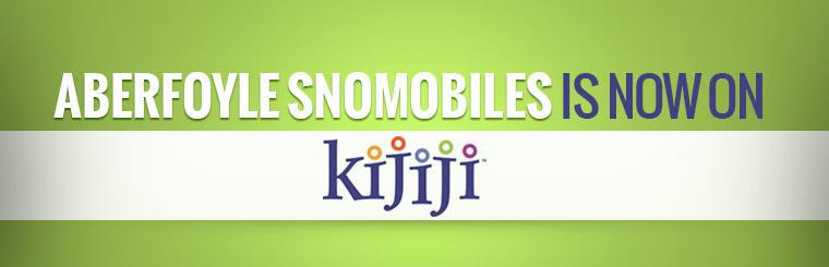 Aberfoyle Snomobiles is now on Kijiji!
