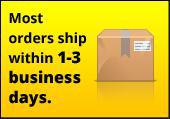 Most orders ship within 1-3 business days.