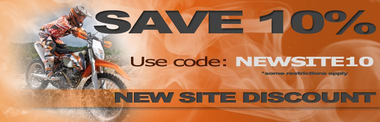 Save 10% with discount code NEWSITE10