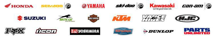 We carry products from suppliers like Honda, Yamaha, Kawasaki, Triumph and Parts Unlimited.