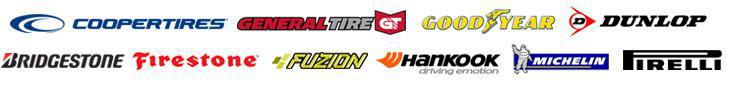 We carry products from Cooper, General, Goodyear, Dunlop, Bridgestone, Firestone, Fuzion, Hankook, Michelin®, and Pirelli.