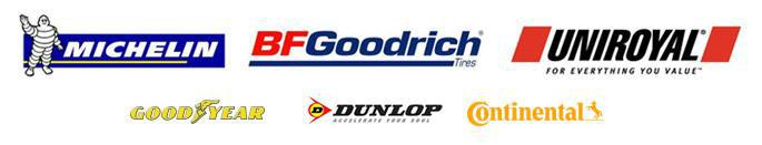 We proudly carry products from Michelin®, BFGoodrich®, Uniroyal®, Goodyear, Dunlop, and Continental.