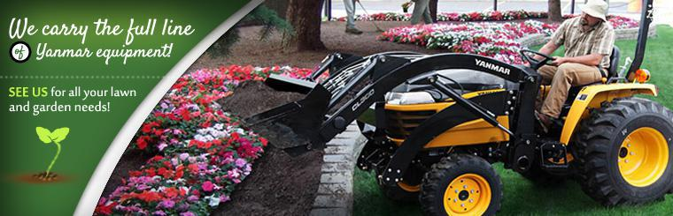We carry the full line of Yanmar equipment! See us for all your lawn and garden needs! Click here to browse our inventory.