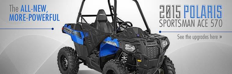 2015 Polaris Sportsman ACE 570: Click here to see the upgrades!