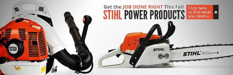 STIHL Power Products: Click here to find what you need.