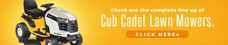 Check out the complete line up of Cub Cadet lawn mowers. Click here »
