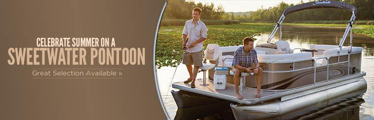 Celebrate summer on a Sweetwater pontoon! We have a great selection available.