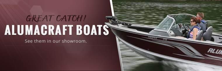 Alumacraft Boats: Click here to see them in our showroom.