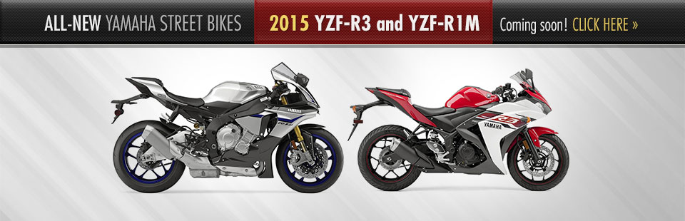 The 2015 Yamaha street bikes are coming soon!