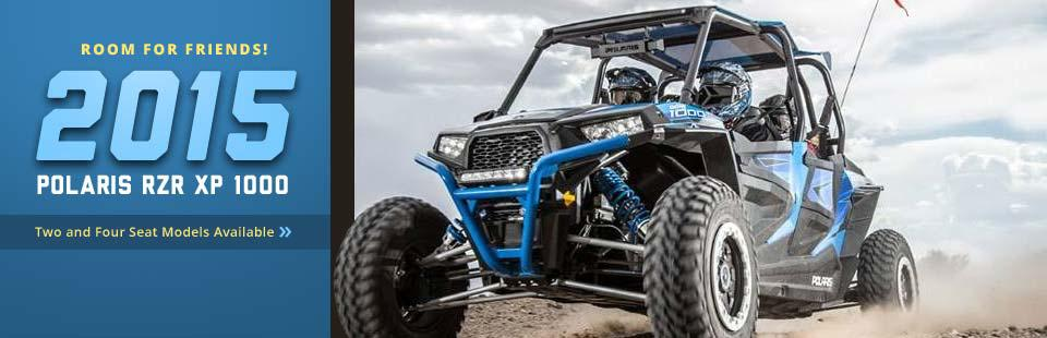 The 2015 Polaris RZR XP 1000 has room for friends!