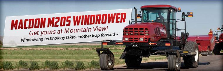 Get your MacDon M205 windrower at Mountain View! Click here to contact us for more information.