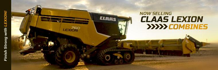 Now Selling CLAAS LEXION Combines: Click here to view the models.
