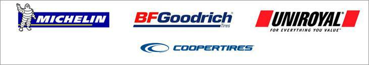 We carry products from Michelin®, BFGoodrich®, Uniroyal®, and Cooper.