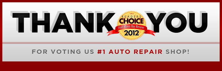 Thank you for voting us #1 auto repair shop!.