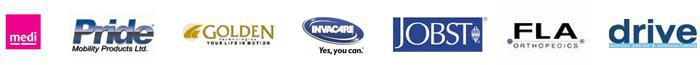 We carry products from Medi, Pride, Golden Technologies, Invacare, Jobst, FLA and Drive Medical.