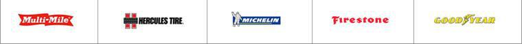 We carry quality products by Multi-Mile, Michelin®, Firestone, Hercules, and Goodyear.