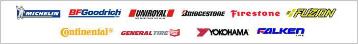 We carry products from Michelin®, BFGoodrich®, Uniroyal®, Bridgestone, Firestone, Fuzion, Continental, General, Yokohama, and Falken.