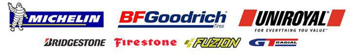 We carry products from Michelin®, BRGoodrich®, Uniroyal®, Bridgestone, Firestone, Fuzion, and GT Radial.