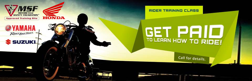 Get Paid To Learn How To Ride!