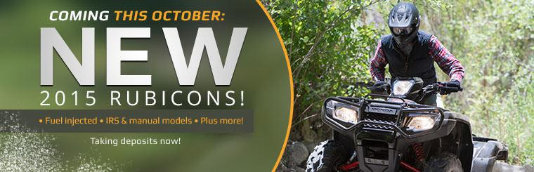 The 2015 Honda Rubicon ATVs are coming this October!