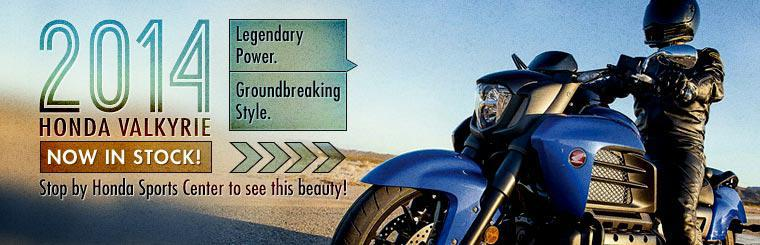The 2014 Honda Valkyrie is now in stock! Stop by Honda Sports Center to see this beauty!