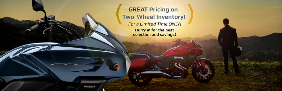 Great Pricing on Two-Wheel Inventory: Hurry in for the best selection and savings!