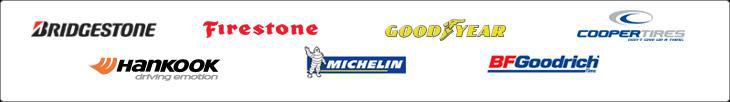 We carry the following brands: Bridgestone, Firestone, Goodyear, Cooper, Hankook, Michelin®, and BFGoodrich®.