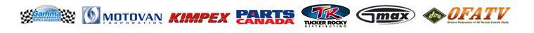 We offer great products by Gamma, Motovan, Kimpex, Parts Canada, Tucker Rocky, Gmax, and OFATV.