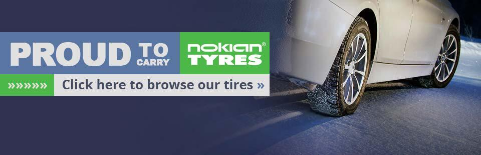 We are proud to carry Nokian tires!