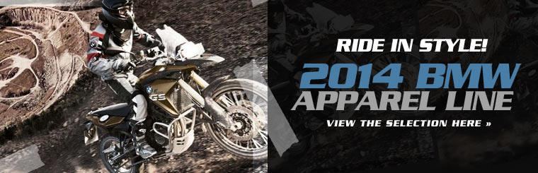Click here to view 2014 BMW apparel and ride in style.