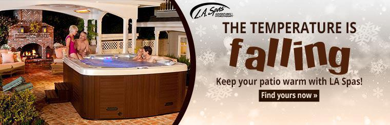 The temperature is falling, keep your patio warm with LA Spas! Click here to find yours now.