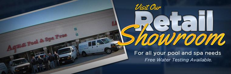 Visit our showroom for all of your pool and spa needs, free water testing is also available.