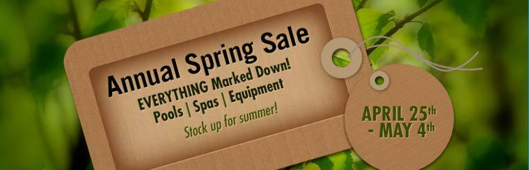 Our Annual Spring Sale is April 25th through May 4th. Everything is marked down! Contact us for details.