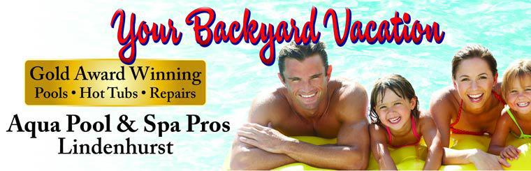Aqua Pool & Spa Pros in Lindenhurst has gold award winning pools and hot tubs, plus we offer repairs! Contact us today.