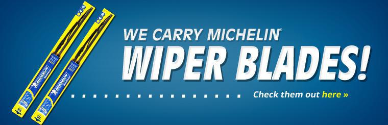 We sell Michelin wiper blades.
