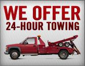 We Offer 24-Hour Towing