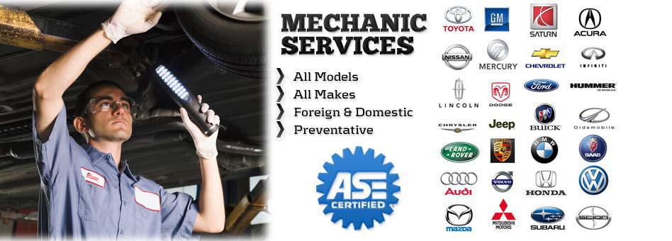 ASE Car Brands Serviced