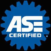 We are ASE certified!