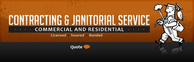 We offer contracting and janitorial service for commercial and residential properties. We are licensed, insured, and bonded. Click here to request a quote.
